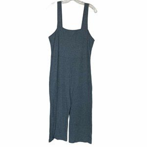 Wild Fable Blue Ribbed Jumpsuit Cropped Sleeveless